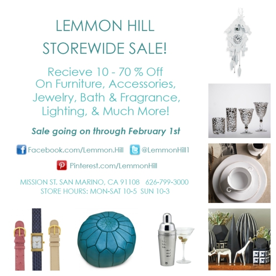 Lemmon Hill Storewide Sale